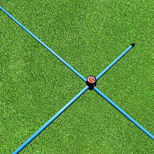 Golf Stick Swing (Elixir Golf The Swing Plane Trainer and Alignment Sticks with (2) Cross Connectors, Blue)