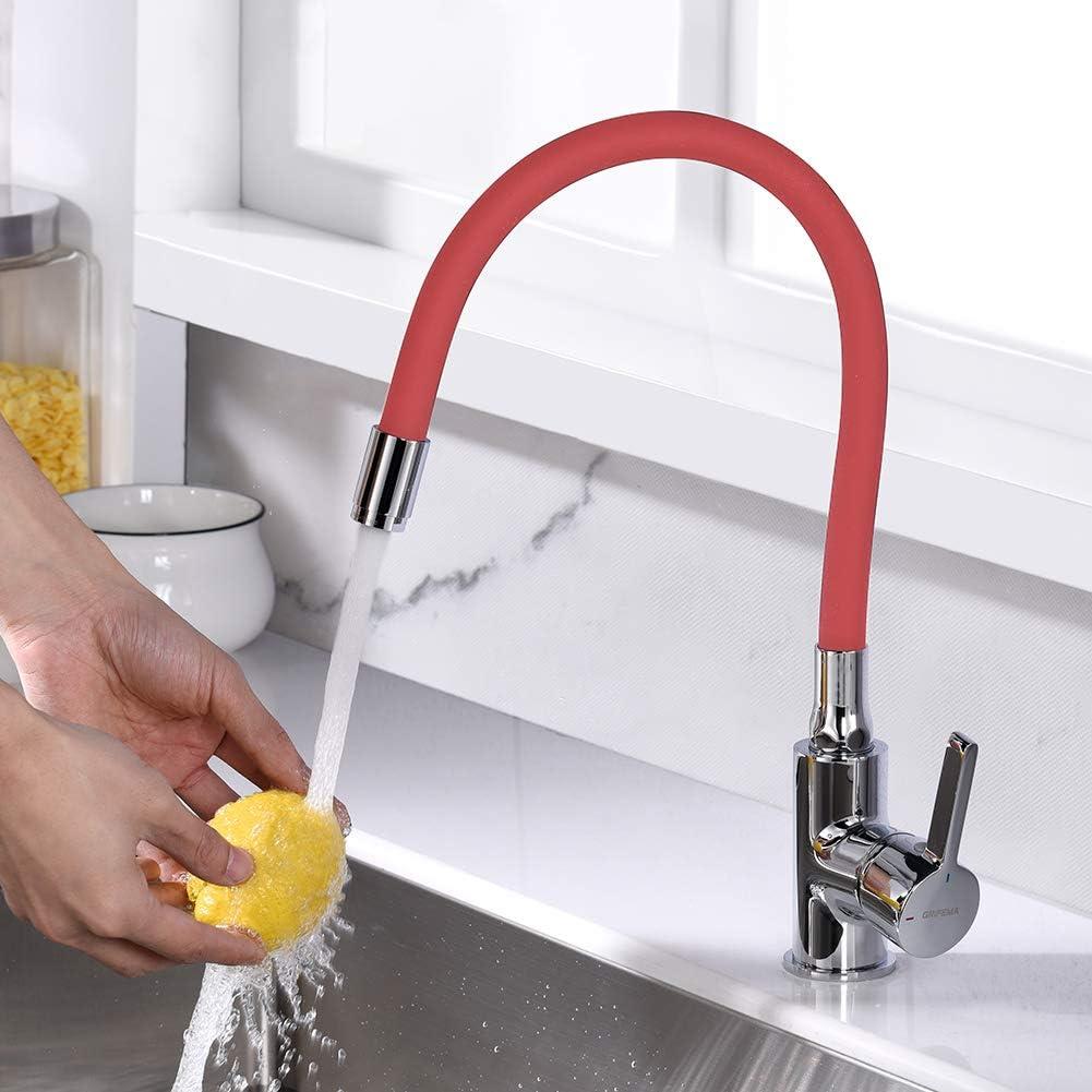 GRIFEMA Irismart Grifo monomando para cocina, Mezclador de fregadero con caño flexible, Color Cromo: Amazon.es: Bricolaje y herramientas
