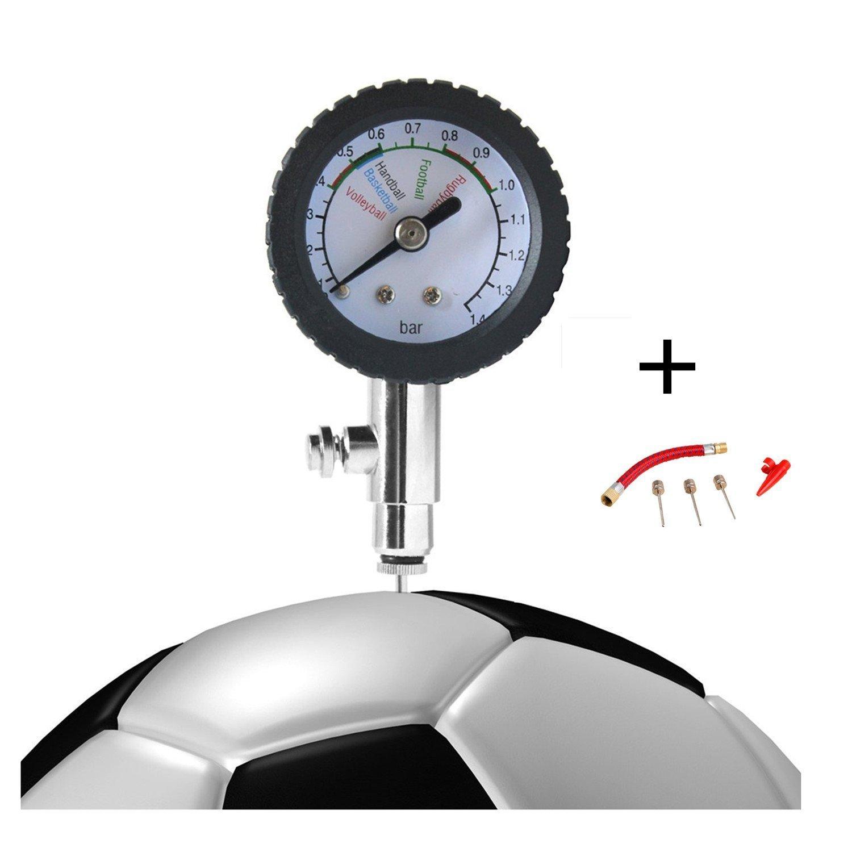 HNJZX Medidor digital de presión para balones de fútbol, voleibol, baloncesto, balones de fútbol y todos los demás inflables, 40 mm de diámetro de la cara + con una aguja extraíble, B