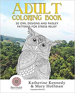 Amazon Adult Coloring Book 30 Owl Designs And Paisley Patterns For Stress Relief Books Relieving