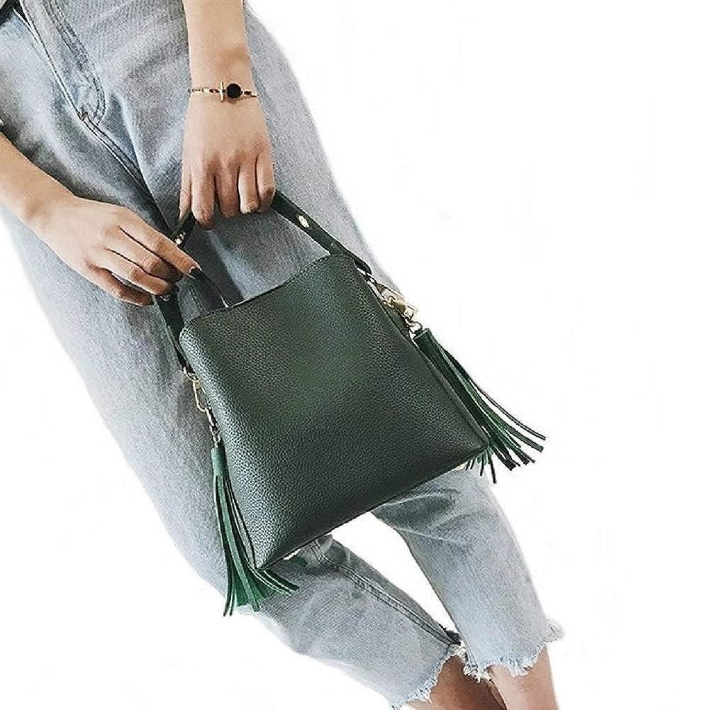 Aiello/'s Story Women Grind Arenaceous PU Shoulder Bags Ladies Tassel Crossbody Bag