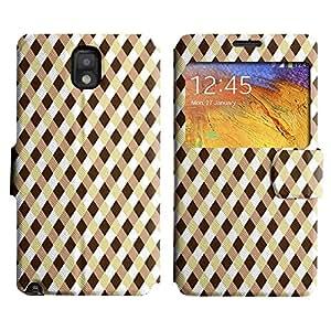 LEOCASE Criss Patrón De Cruz Funda Carcasa Cuero Tapa Case Para Samsung Galaxy Note 3 N9000 No.1000556
