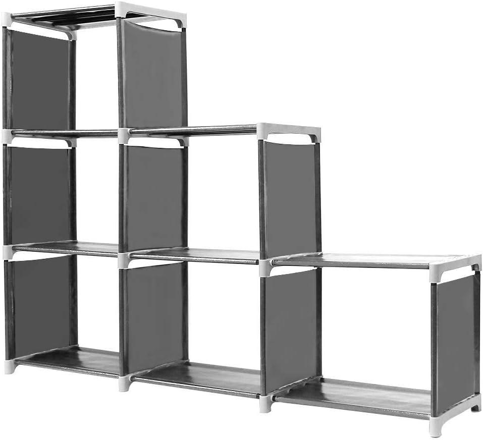 Organizador Multifuncional Estantería Librería DIY de 3 Niveles 6 ...