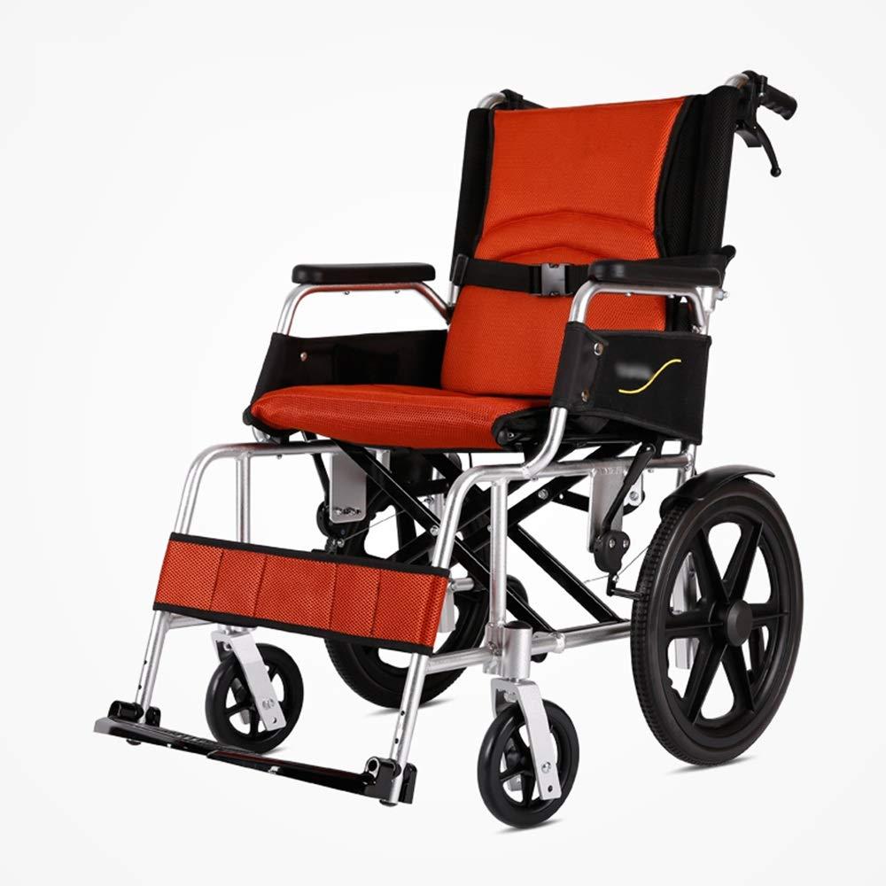 【SEAL限定商品】 FEIFEI B07GWRLQC6 車いす折りたたみ軽量アルミ合金超軽量ポータブル車椅子 Orange) (色 : Orange) (色 Orange B07GWRLQC6, 京都の刺繍 三京:87c51d59 --- a0267596.xsph.ru