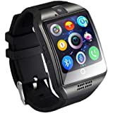 Stepfly Bluetooth Smart Watch with Camera Sim Card Message Notifications of Whatsapp Facebook Twitter Two Battery Smartwatch