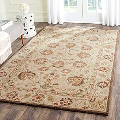 Safavieh Antiquities Collection AT812A Handmade Traditional Oriental Beige and Beige Wool Runner