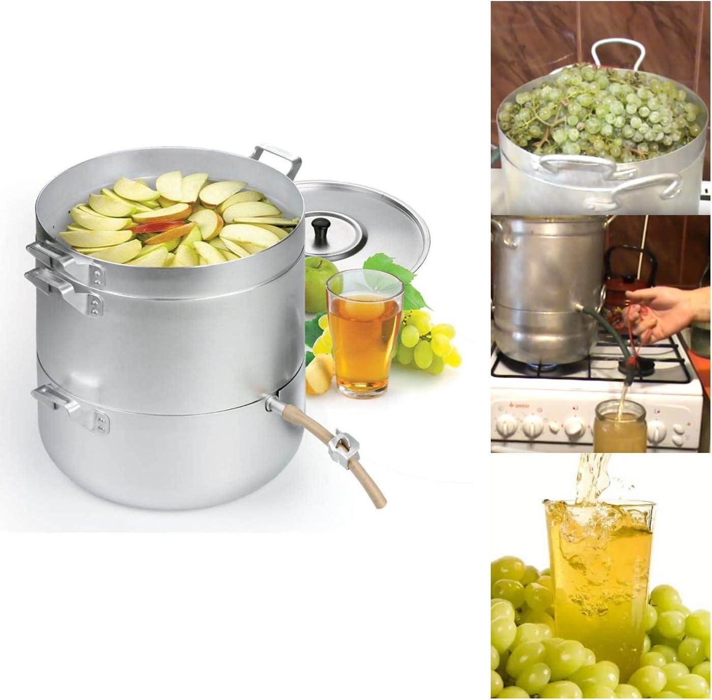 Steam Juicer Steamer Natural Juice Cooking Food Aluminum 1.58 Gal / 6 Liters