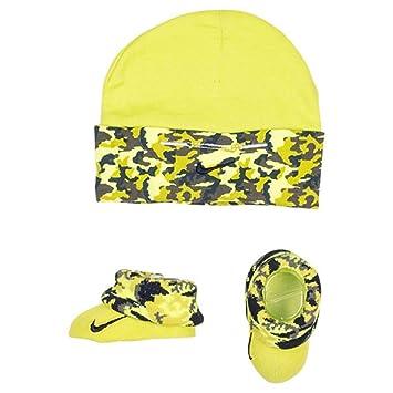 Amazon.com  Nike Baby Boys Swoosh Camo Print Hat   Booties Set 0-6M ... 667b7f12349