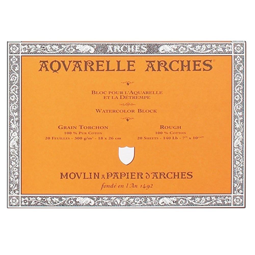 "Arches Watercolor Block, Rough 7""X10"", 7"" x 10"""