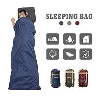 CAMTOA ultraleicht, klein, warm Schlafsack Hüttenschlafsack Schlafsack Inlett, Outdoor Wasserdicht Camping Sleeping Bag Sommerschlafsack Ideal für Hostels, Berghütten und Jugendherbergen