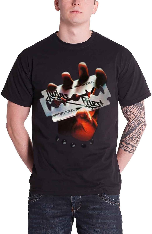 LaMAGLIERIA Herren-T-Shirt Judas Priest T-Shirt Hard Rock Metal 100/% Baumwollee