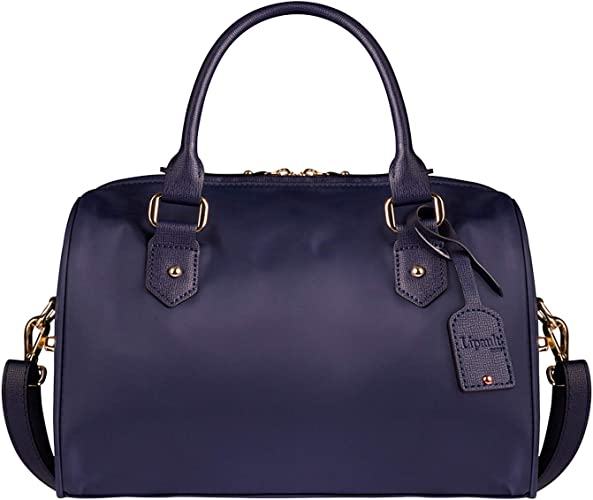 Lipault Plume Avenue Bowling Bag Small Top Handle Shoulder Boston Handbag for Women