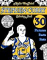 Stephen Curry Basketball Coloring Book: Unofficial Night Edition: 30 Beautifully Designed Pictures of Stephen Curry, his stats and facts, and other ... and leaves (Sports coloring books) (Volume 1)