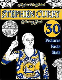 Stephen Curry Basketball Coloring Book Unofficial Night Edition 30