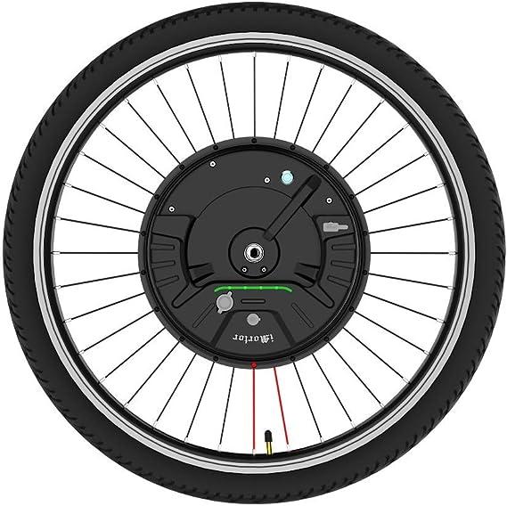 imortor Kit de conversión de Bicicleta eléctrica 3.0 inalámbrica o Solo un Cable, Todo en uno, 40 km/hy 40 km (Aplicación Bluetooth + Freno de Disco, Rueda de 24 Pulgadas, Neumático de