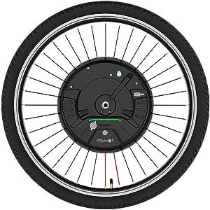 imortor Kit de conversión de Bicicleta eléctrica 3.0 inalámbrica o Solo un Cable, Todo en uno, 40 km/hy 40 km (Bluetooth App + V Brake, Rueda de 26 Pulgadas, Neumático de 2.125