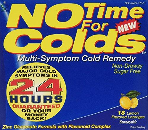 No Time for colds multi symptom cold remedy lozenges, Lemon - 18 Each