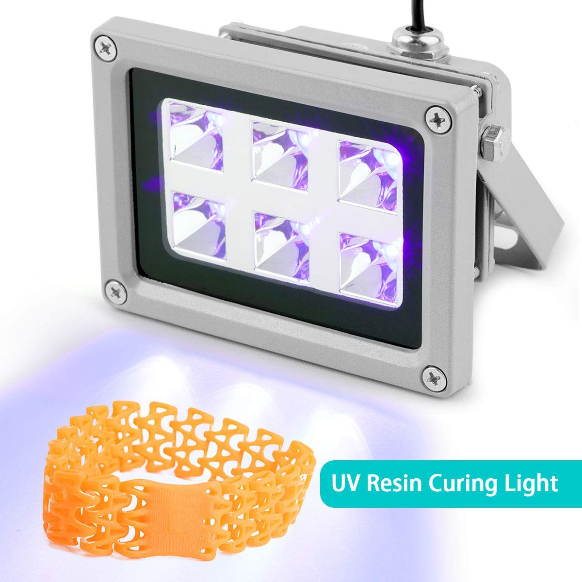 Vogvigo UV Resina Lámpara,Luz de Curado de Resina UV de 405 nm ...