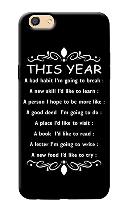 kanvascases back cover for oppo f3 new year quotes 2