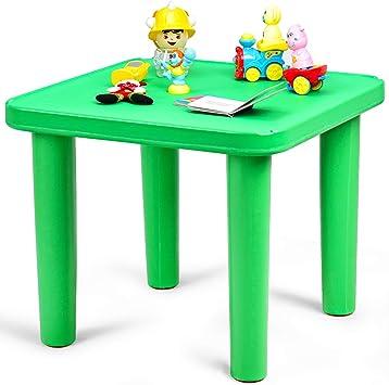 Costzon - Mesa de plástico para niños, Silla para Aprender y Jugar ...