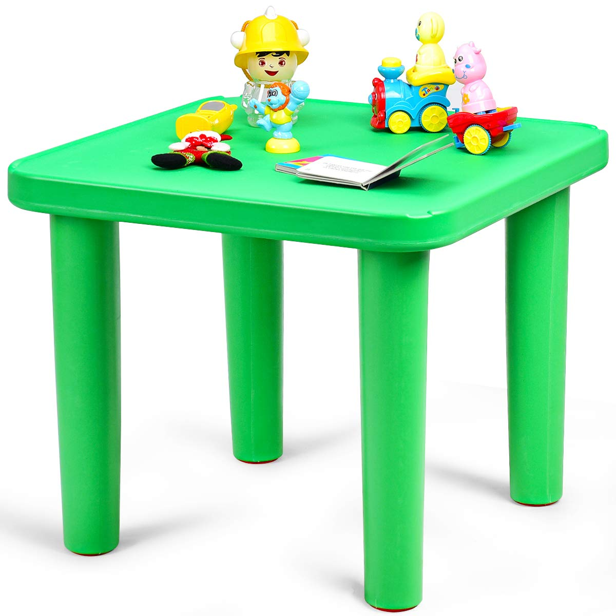 Costzon Kids Plastic Table, Chair Learn and Play Activity Set, School Home Furniture (Table)