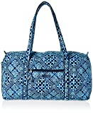 Women's Large Duffel, Signature Cotton, Cuban Tiles