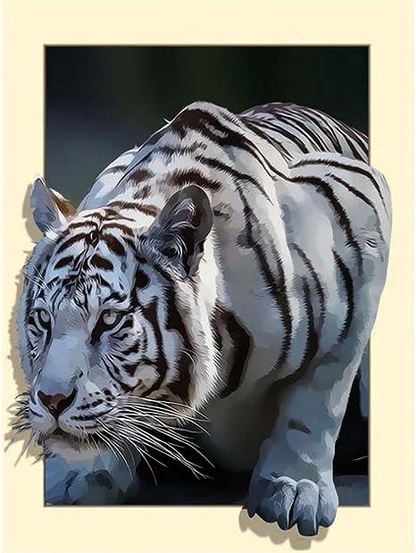 Cross Stitch Chart Pattern White Tiger 2