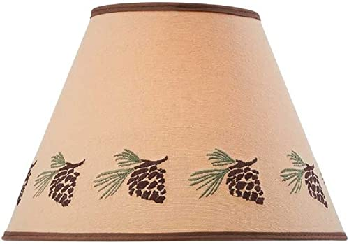 Park Designs Pinecone Embroidered Shade – 12