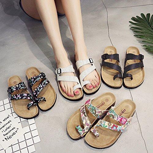 Angolo Qingchunhuangtang Pantofole Da Fiore Spiaggia Piatto Pantofole Scarpe Pantofole Fondo Estate q1qPZX