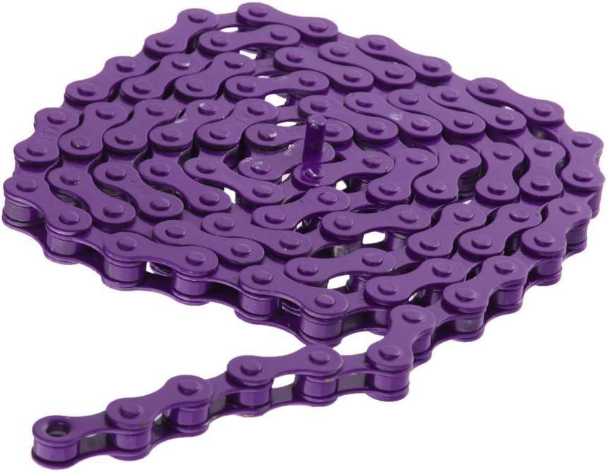Purple 1//2 7 Colors Bike Chain Fixed Gear Track BMX Single Speed Chains 1//2 x 1//8
