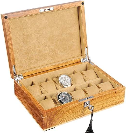 WYJW Caja de Reloj Grande para Hombres/Mujeres 10 Relojes Ranuras ...