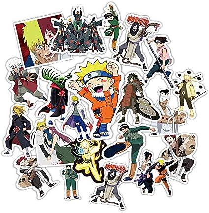 Inveroo 49pcs Japón Anime Dibujos Animados Naruto Pegatina para El ...