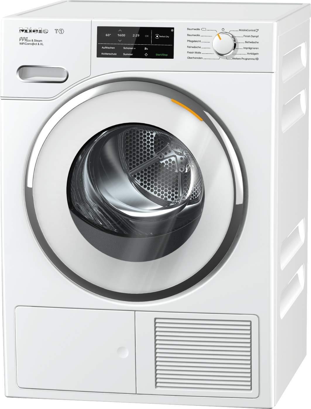 Miele TWJ 680 WP Wärmepumpentrockner/A+++ (193kWh/Jahr)/mit 9kg Schontrommel/mit Duftflakon für frisch duftende Wäsche/Wäschetrockner per WLAN mit Smartphone steuerbar/Dampffunktion zum Vorbügeln [Energieklasse A+++] 10963760