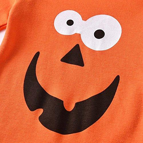 Angelof Orange Fille Halloween Nouveau Casquette Manche Decoration Longue Garçons Costume Outfit Bébé Imprimer Barboteuse né Vêtements rrwgaZ