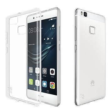 Huawei P9 lite Funda, KingShark Slim Fit Huawei P9 lite Funda Carcasa Case Bumper con Absorción de Impactos y Anti-Arañazos Espalda Case Cover para ...
