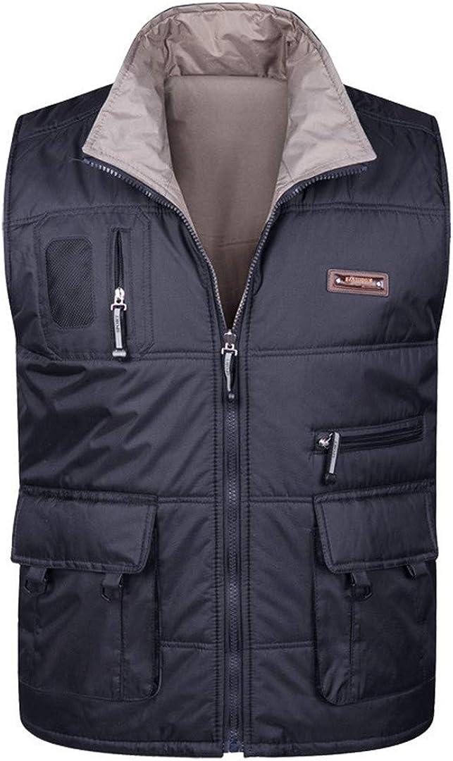 Man&Jenensy Giacca Invernale Spessore Caldo Cotone Vest Pocket Multi Fotografia Maniche Baggy 2
