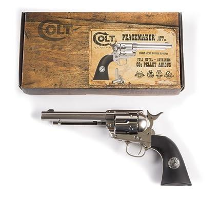 Colt Peacemaker Revolver Single Action Army Six-Shooter  177 Caliber Air  Pistol, Pellet Gun