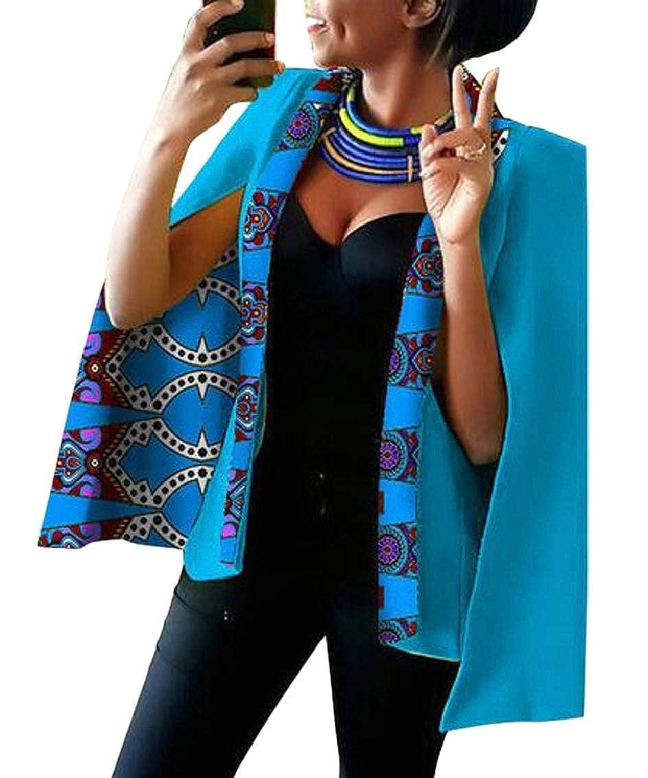 15 Women Casual African Print Shawl Split Sleeve Blazer Jacket Coats