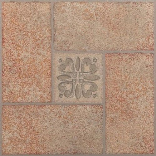 (Creative Home: Nexus Vinyl Self Stick Tile: 421 Beige Terracotta Center Motif: 1 Box 20 Tiles: Covers 20 Sq. Ft.)