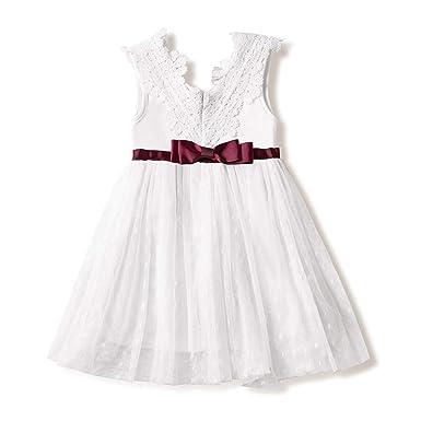 94602775ab168 Amazon.com: Vintage Blue Baby Girl Dress Baptism Dresses for Girls ...