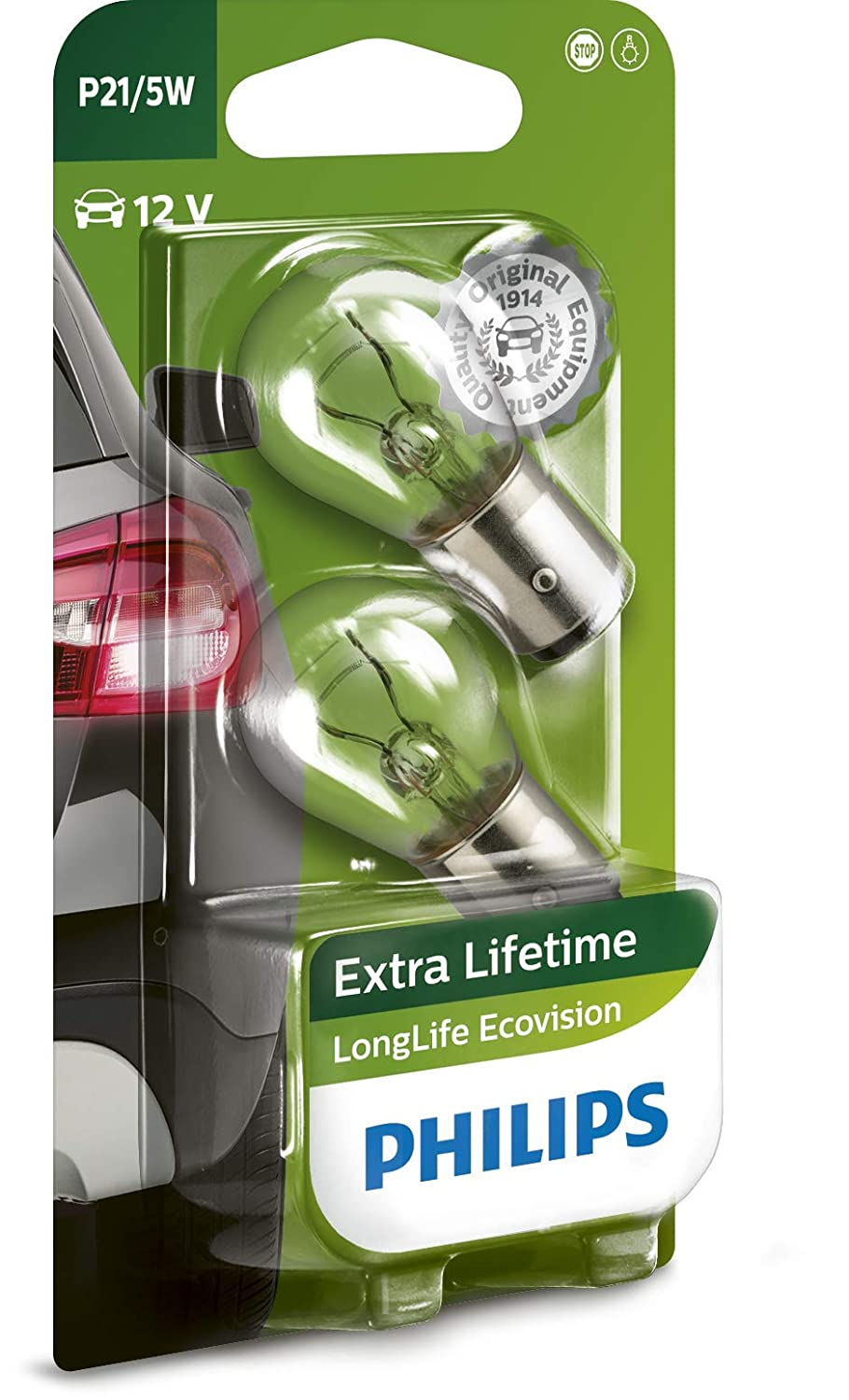 2 pezzi Philips 12972LLECOS2 Fanale LongLife EcoVision H7