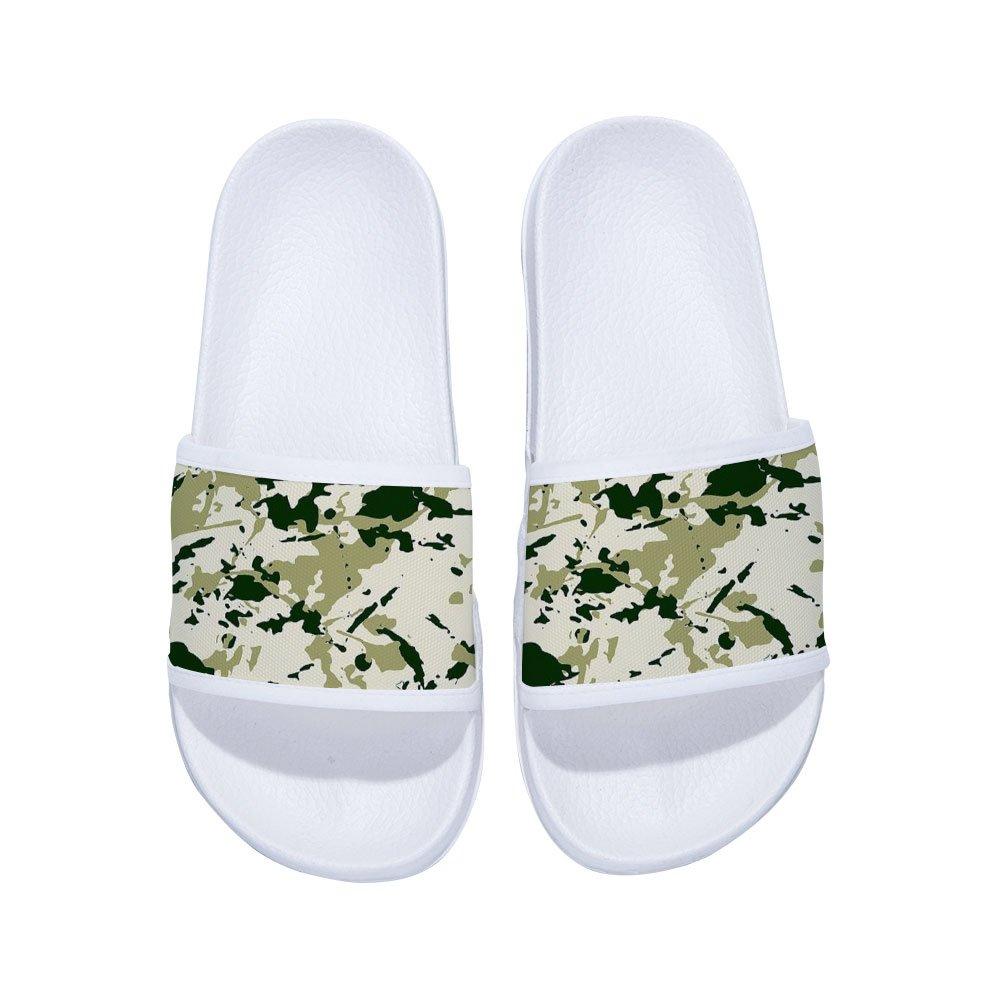 Slide Sandals for Boys Girls Non-Slip Bedroom Swimming Spa Indoor Outdoor Slide Sandals Camouflage