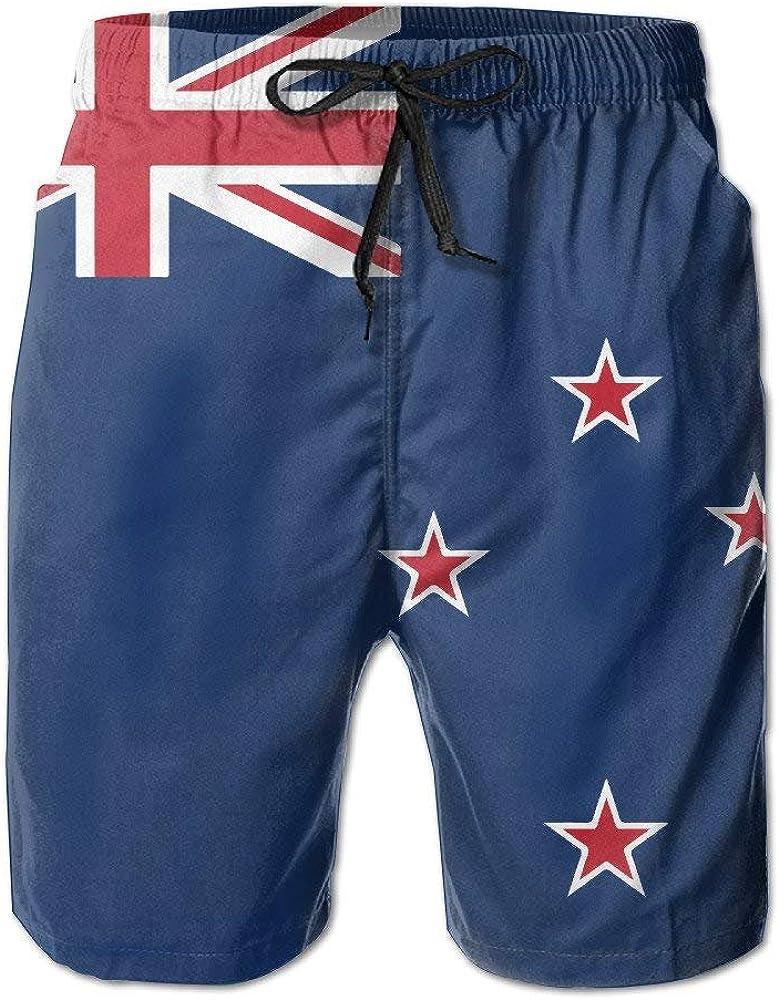 Bandera de Nueva Zelanda Playa de Verano para Hombres Surf de Secado rápido Troncos de natación Bañadores Pantalones Cargo, M: Amazon.es: Ropa y accesorios
