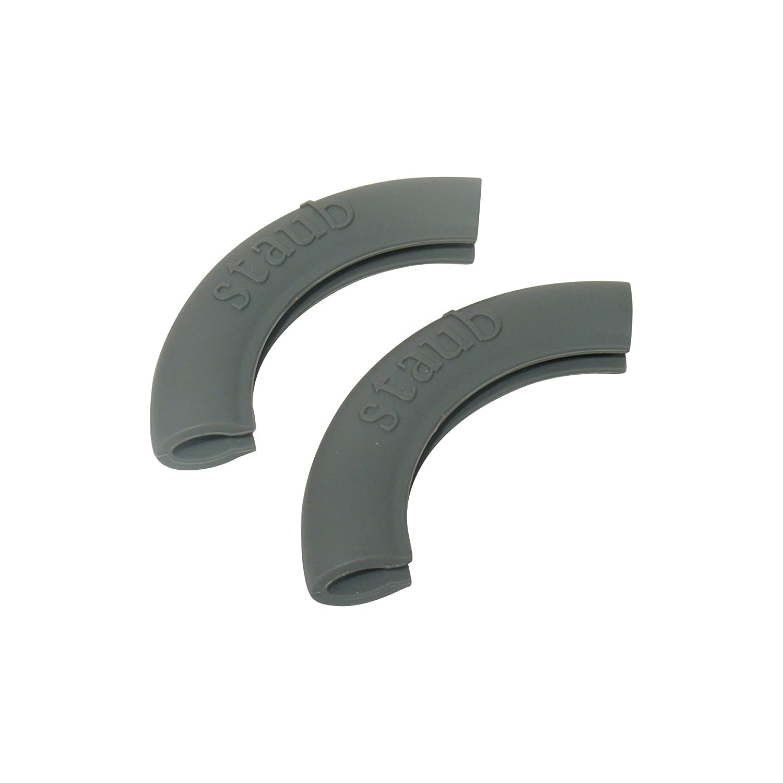 color gris Juego de 2 asas de silicona Staub 1190797