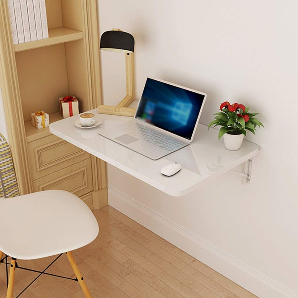 Dining Table Computer Desk Wall Hanging Folding Table Side Table for Small Space Wall-mounted Laptop Table (Size : 6040 cm)