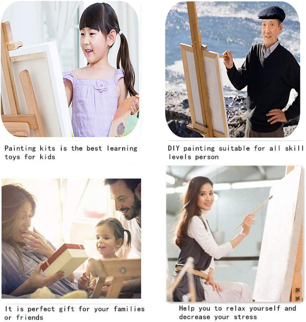 16 W x 20 L Drawing Paintwork with Paintbrushes Oil Painting Kit for Kids /& Adults Start Sailing with 3 Brushes /& Bright Colors Acrylic Painting Canvas by Number DIY Oil Paint by Numbers