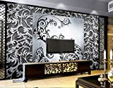 ZLJTYN 240cmX160cm Custom wallpaper metallic, metal decorative pattern murals for the living room bedroom TV wall waterproof textile paper