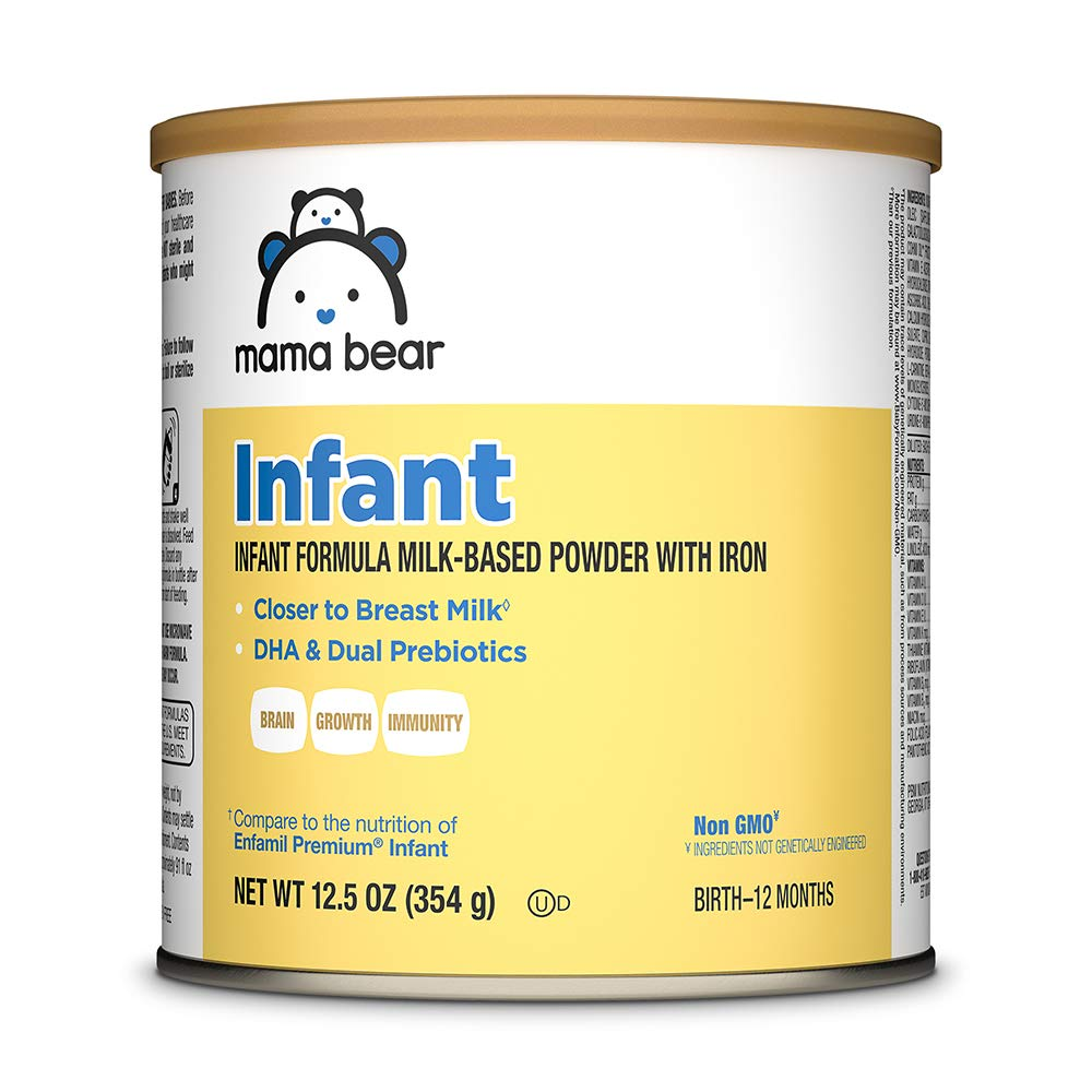Mama Bear Gentle Baby Formula Milk-Based Powder with Iron, Complete Nutrition, Easy to Digest, 12.5 Ounce