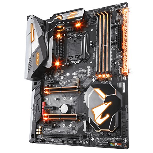 GIGABYTE Z370 AORUS Gaming 5 (Intel LGA1151/ Z370/ ATX/ 3xM.2/ Onboard AC WIFI /Front USB 3.1/ RGB Fusion/ Fan Stop / SLI / Motherboard)