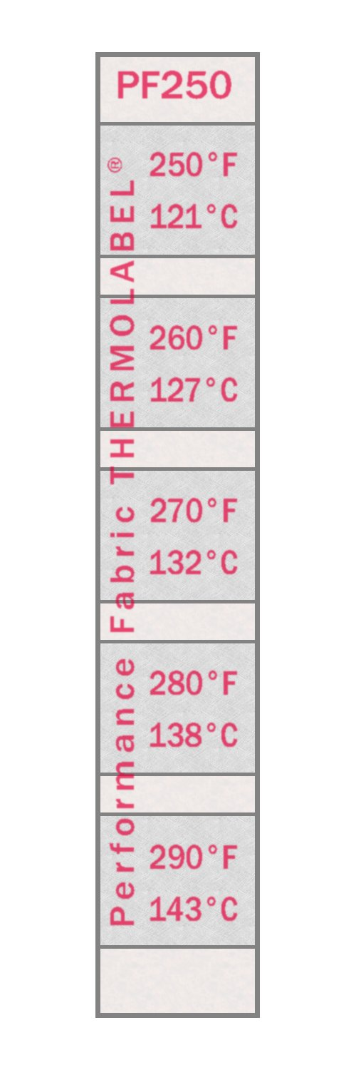 Performance Fabric Thermolabel 250-290°F For Screen Printing Pack of 16 Labels by Paper Thermometer